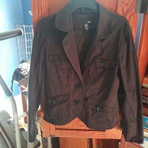 H&M black button up blazer size 14